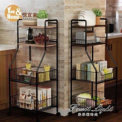 廚房置物架廚房用品收納架落地多層蔬菜調味料碗鍋儲物架子 NMS