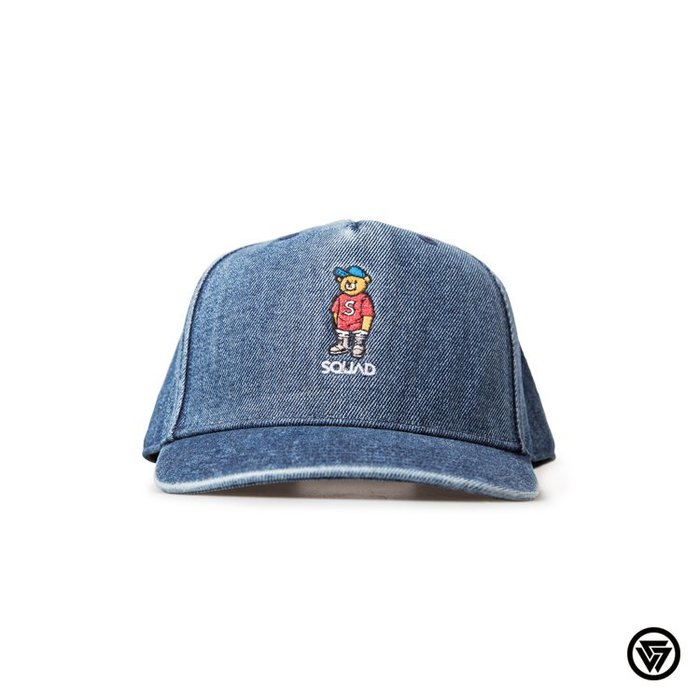 SQUAD 2016 S/S Bear Denim Baseball Cap Bear 小熊牛仔棒球帽 藍色
