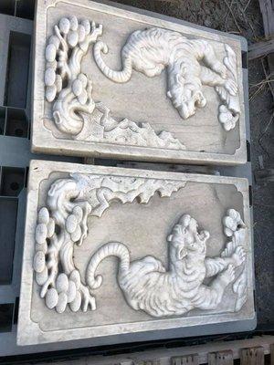 漢白玉老虎石雕