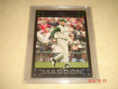 美國職棒 Cubs Manager 總教練 Joe Maddon  2007 Topps #266 球員卡