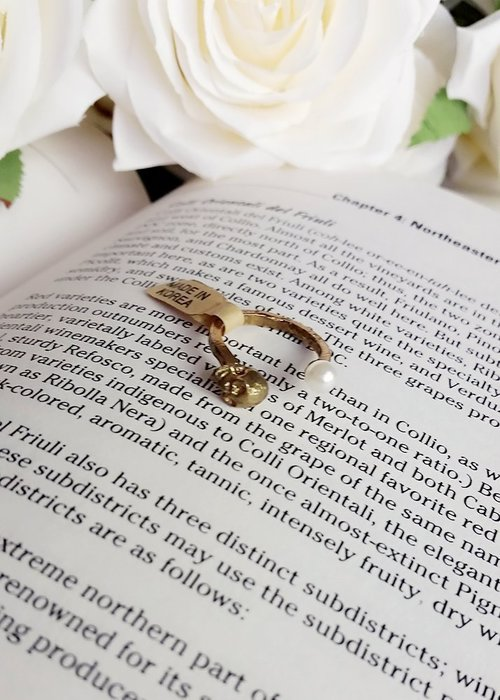 正韓骷髏頭 珍珠 個性又帶甜美 戒指 造型百搭款[現貨一只]ⓜⓐⓓⓔ ⓘⓝ ⓚⓞⓡⓔⓐ