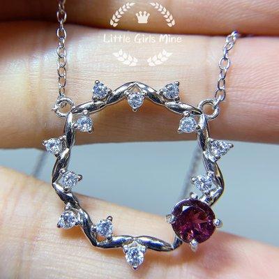 天然石-輕珠寶-春天盛宴系列-粉紅碧璽頸鍊(純銀)