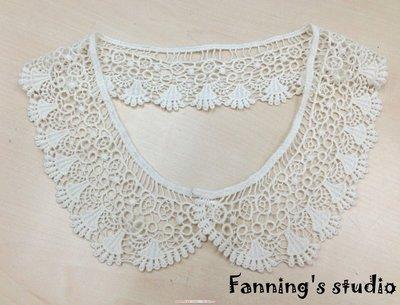 【芬妮卡Fanning服飾材料工坊】垂墜蕾絲領片 DIY手工材料 單片入 『現貨商品』