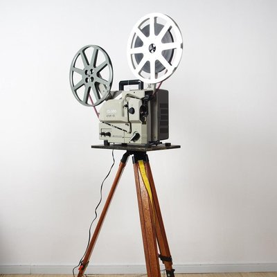 百寶軒 8品新古董槽式電影機愛爾莫ElmoCL-25016毫米16mm放映機帶腳架 ZG3571