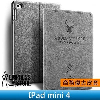 【妃小舖】iPad mini 4 鹿頭 北歐鄉村風 復古/帆布紋 超薄 二折/支架/止滑 休眠/喚醒 平板 皮套/保護套