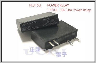 『正典UCHI電子』FUJITSU 富士通 繼電器MYAA024D DC24V 5A SLIM POWER 繼電器