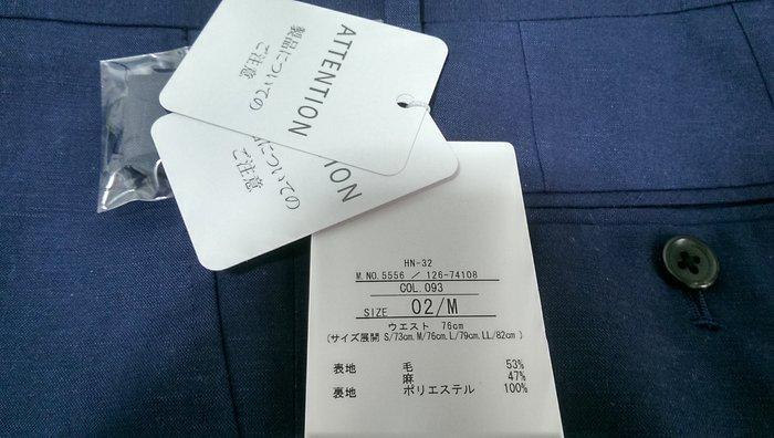 潮流服飾 BOYCOTT最新當季男裝新品 日本購回 窄版FIT 湛藍