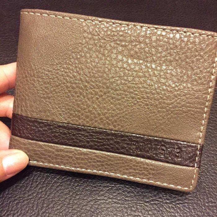 ROOTS73 歐美專櫃品牌 全新 卡其色經典男用皮夾
