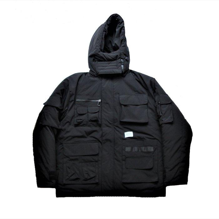 PUNX 19AW SPLICE DOWN JACKET / BLACK 多口袋拼接工裝外套