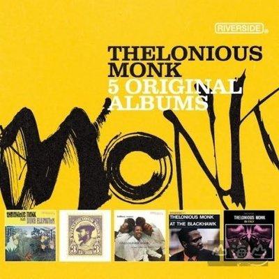 爵士超凡大師 傳奇5CD 王盤套裝/泰隆尼斯.孟克 THELONIOUS MONK---7236930