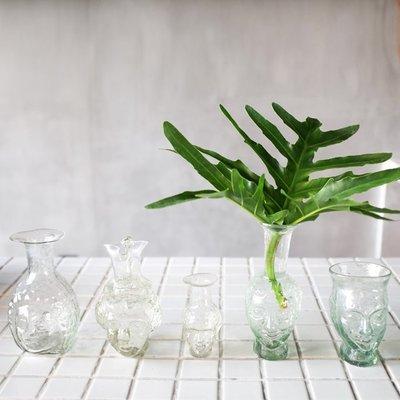 【蓮花堂】(法國)La Soufflerie手作吹制玻璃人臉酒瓶花器Vase Tête