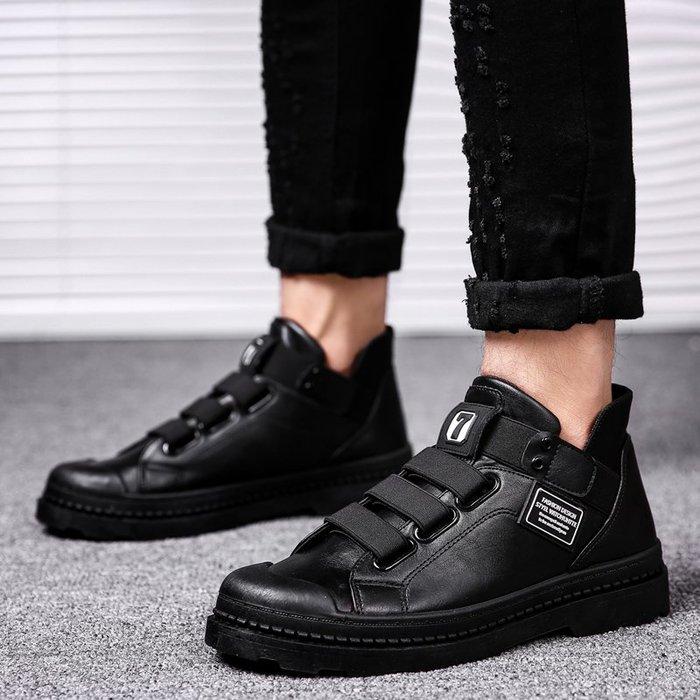 新款男鞋子秋季男士英倫復古工裝靴馬丁靴青年百搭耐磨短靴