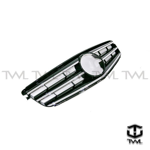 《※台灣之光※》全新BENZ W204跑車式Avantgarde大星黑色水箱罩 不附大星 現貨供應