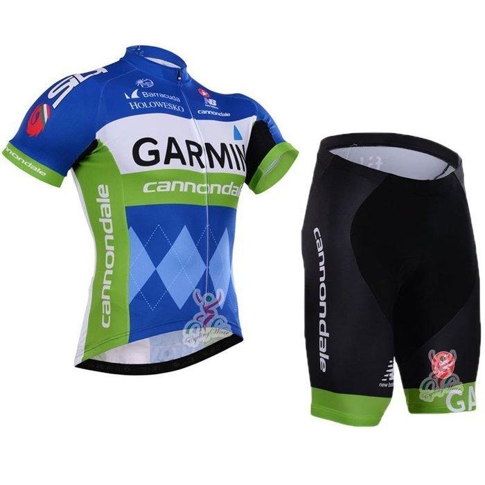 【綠色運動】2015款加門GARMIN 自行車衣 腳踏車衣 騎行服 自行車服 車衣車褲短套裝 吸濕排汗透氣單車服