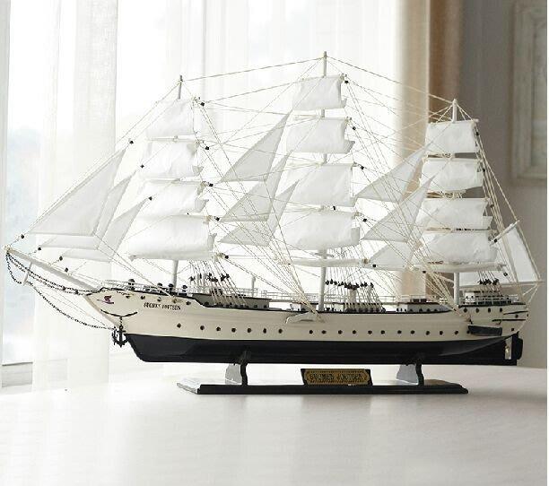 【易發生活館】新品特大號高檔帆船戰艦模型 木制工藝禮品裝飾擺件 地中海喬遷送禮