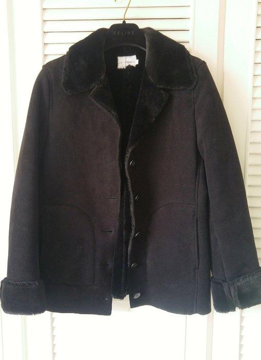 CK 深黑棕全皮毛內裡外套