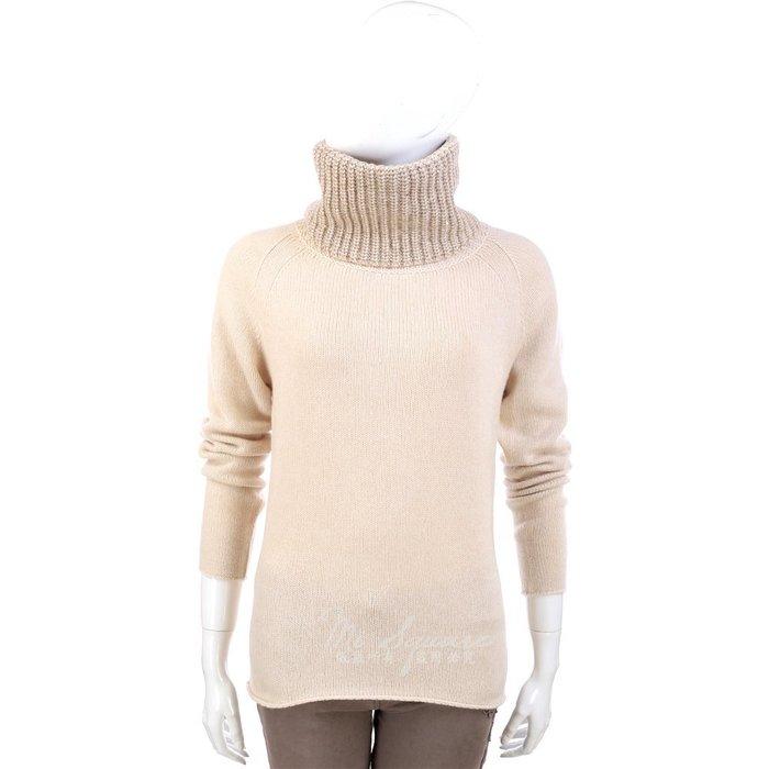 米蘭廣場 FABIANA FILIPPI 米色針織拼接設計高領長袖毛衣 1340327-40