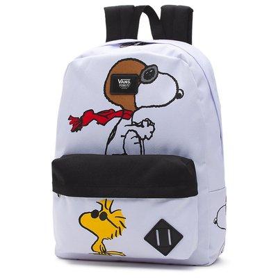 預購 Vans VANS X PEANUTS 白色 黑色 卡通 印花 貼布 logo 手提 肩背 後背包 背包 書包