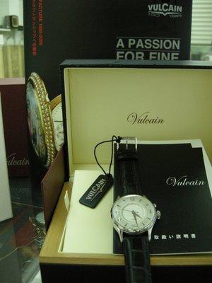 VULCAIN cricket 窩路堅 大錶徑/ 震動式鬧鈴錶 未使用新品