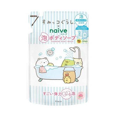 【JPGO】日本製 Kracie Naive 角落生物限定包裝 桃葉泡沫沐浴乳 補充包 450ml#348