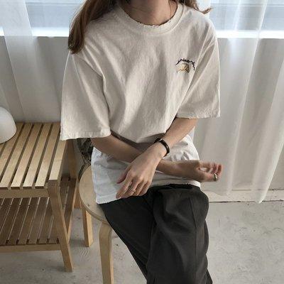 夏裝2018新款韓版字母刺繡短袖t恤女上衣寬松顯瘦百搭打底衫學生