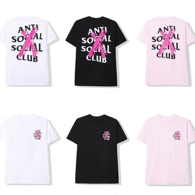 現貨 - Anti Social Social Club ASSC Cancelled X 黑 白 粉 短T