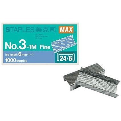 【鑫鑫文具】MAX NO.3-1M 訂書針 釘書針 3號針