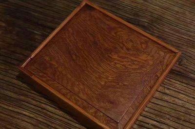 ॐ〘聖多羅〙【普洱茶盒订制】材质:缅甸花梨「独板」
