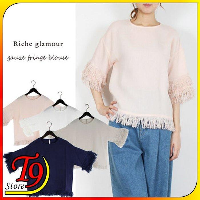 【T9store】日本進口 紗布條紋襯衫