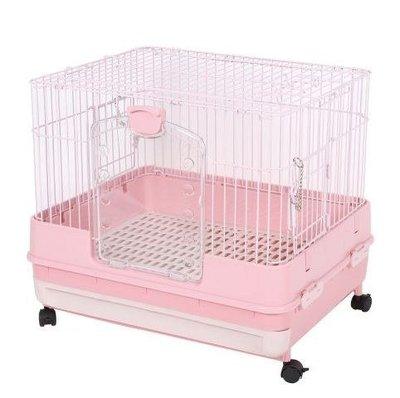 Marukan豪華挑高抽屜式精緻兔籠 天竺鼠籠 小動物飼養籠MR-995(粉色)三門好開好關,每件2,350元,現貨免等