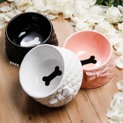 貓碗狗碗食盆里的顏值擔當 蝴蝶結陶瓷骨頭碗