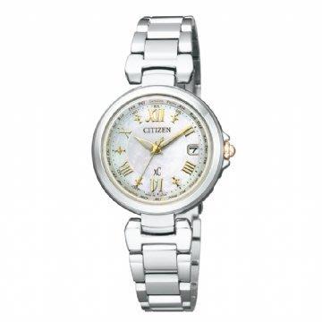 [永達利鐘錶] 星辰  電波 全銀色 白蝶貝面板 鍊帶女錶 EC1035-56W 總公司24個月保固/ 27mm 台北市