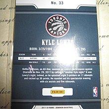 新賣家~17/18~Kyle Lowry /75~DOMINION~厚版~限量/75~40 1元起標