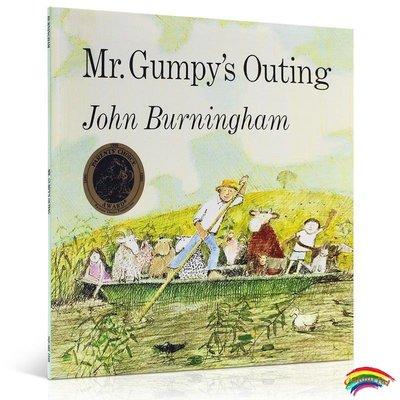 吳敏蘭繪本和甘伯伯去游河踏青 Mr Gumpy's Outing 格林威大獎吳敏蘭兒童英文原版123啟蒙入門圖畫書3-6歲英語閱讀育兒早教童書