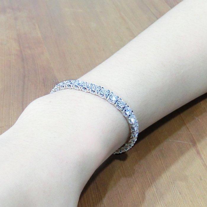 【LOVES鑽石批發】天然鑽石手鍊-30分經典款-D color-H&A-18K金  LOVES DIAMOND