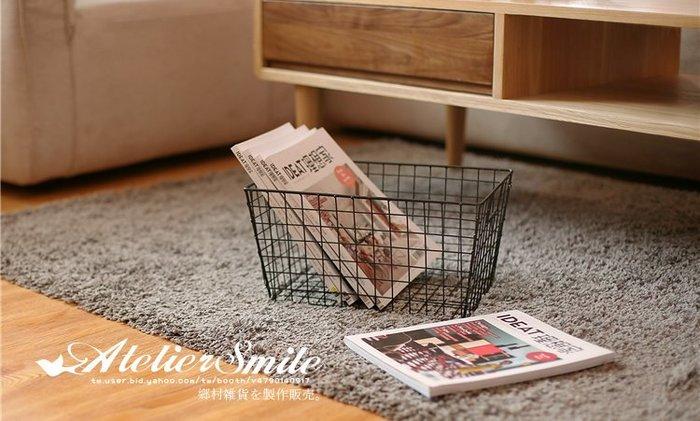 [ Atelier Smile ]  鄉村雜貨 北歐風 / 金屬收納系列 / 桌面收納籃 分類籃 置物籃 # 小