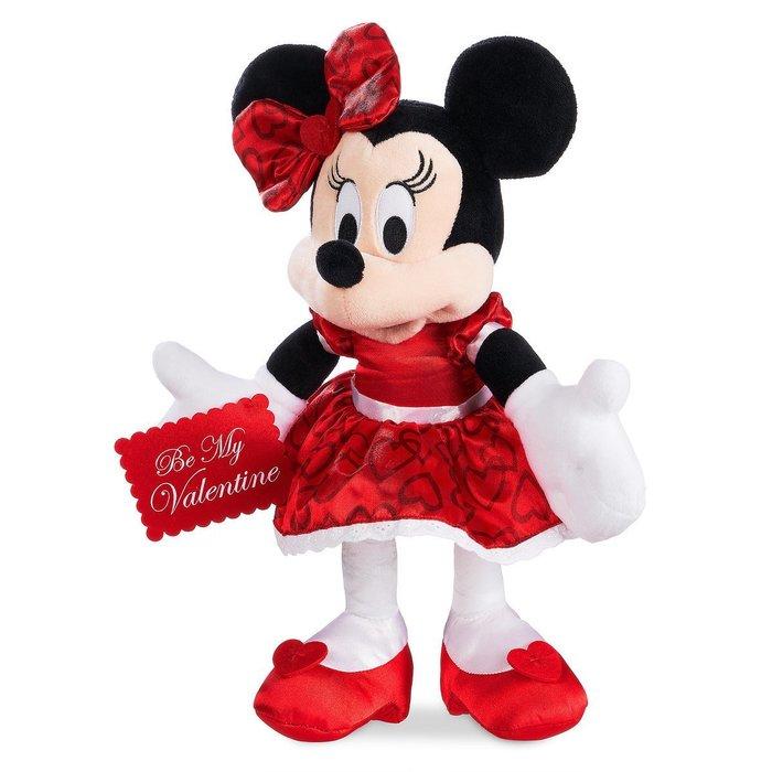 代購現貨 美國加州迪士尼商品 情人節米妮毛絨玩偶 12吋