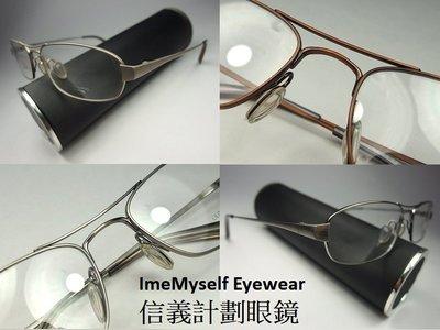 【信義計劃眼鏡】 Oliver Peoples OP Savant 日本製 鈦金屬框 雙槓 橢圓框 可配高度數小框