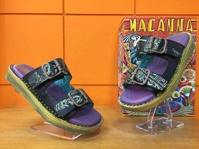 【阿典鞋店】**男鞋**Macanna** 麥坎納專櫃~馬雅系列2~全新彩印牛皮+羊皮氣墊鞋330730