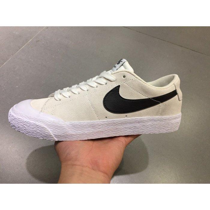 Nike SB Blazer Zoom Low XT 膠底 休閒運動 滑板鞋  864348-101 男鞋 米白黑