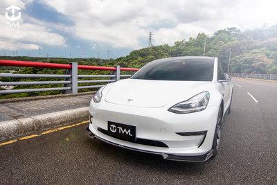 《※台灣之光※》TESLA特斯拉Model 3 SR LR Performance升級高品質抽真空輕量化卡夢碳纖維前下巴