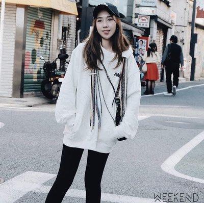 【WEEKEND】 AMBUSH 多繩 寬鬆 連帽 帽T 白色