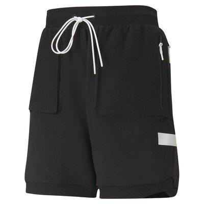 【豬豬老闆】PUMA 籃球系列 Standby 黑 歐規 綁繩 口袋 休閒 運動 短褲 男款 53032804