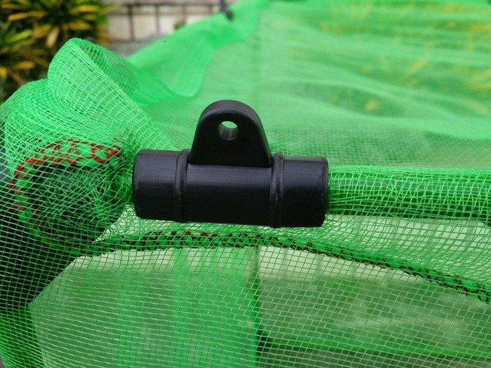 11mm/16mm 10支/包 U型管夾/固定網夾/塑膠網夾(台製)
