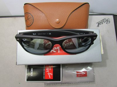 全新真品 Ray-Ban 2132F New Wayfarer 622 55/18  G-15 亞洲版黑色膠框 太陽眼鏡