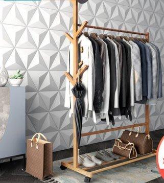 『格倫雅』索樂衣帽架落地臥室掛衣架簡易衣服架子家用衣架經濟型掛鉤置物架^11680