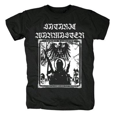 芬蘭Satanic warmaster惡魔的戰帥黑色金屬Kommando封面黑色T恤