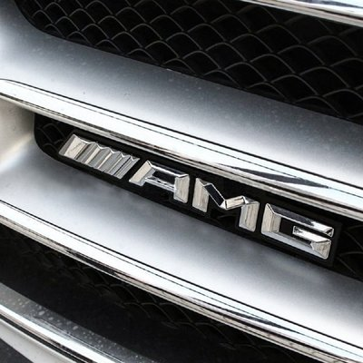 BENZ  新型 AMG 水箱 中網 標誌 水箱罩前標誌金屬材質 螺絲對鎖式質感上乘  w202 w203 w20