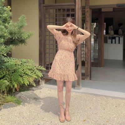 【ZEU'S】小碎花復古雪紡洋裝『 11219626 』【現+預】KA