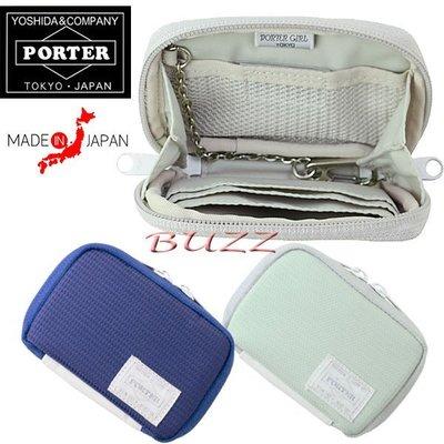 巴斯 日標PORTER屋-灰色現貨 PORTER GIRL PIXEL 信用卡夾-鑰匙包 699-05547